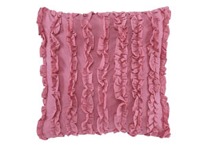 Ruffin Pink Pillow