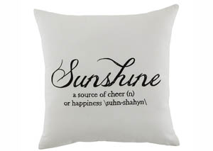 Sunshine White Pillow