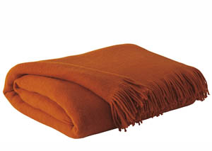 Shiloh Burnt Orange Throw