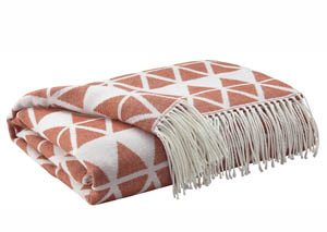 Noemi Burnt Orange Throw