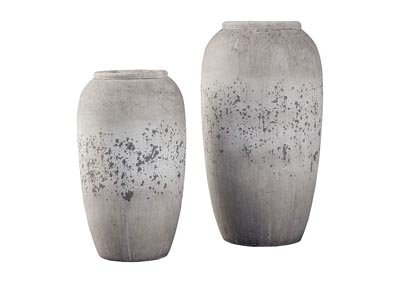 Dimitra Brown/Cream 2 Piece Vase Set