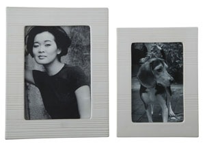 Baback White Photo Frame (Set of 2)