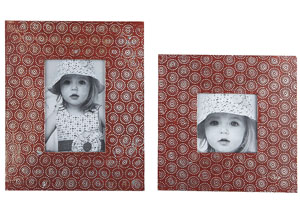 Bansi Orange Photo Frame (Set of 2) (2/CS)