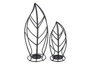 Cadelaria Black Candle Holder (Set of 2)