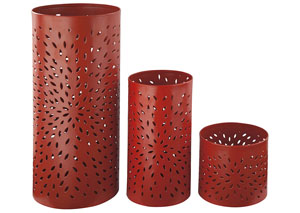 Caelan Orange Candle Holder (Set of 3)