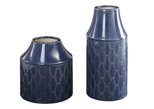Caimbrie Navy Vase (Set of 2)