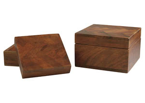 Kabecka Brown Box (Set of 2)