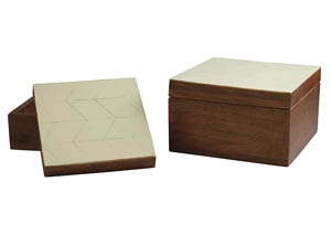 Kabecka Brown/Cream Box (Set of 2)