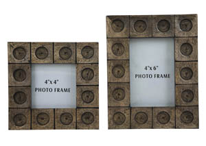 Jasiah Antique Gray Photo Frame (Set of 2)