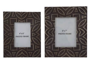 Marquise Antique Black Photo Frame (Set of 2)