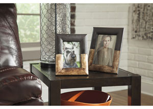 Michi Bronze Finish/Wood Photo Frame (Set of 2) (2/CS)