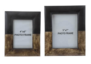 Michi Bronze Finish/Wood Photo Frame (Set of 2)
