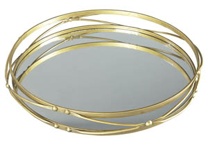 Ocelfa Antique Gold Finish Tray (Set of 2)