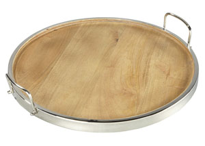 Octavian Natural/Silver Finish Tray