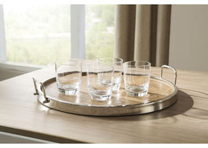 Octavian Natural/Silver Finish Tray (2/CS)