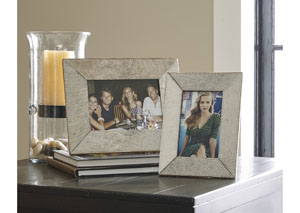 Odeda Beige Photo Frame (Set of 2) (2/CS)