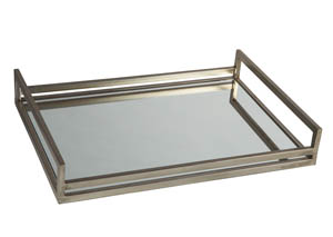 Derex Silver Finish Tray
