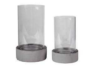 Dieter Gray Candle Holder Set