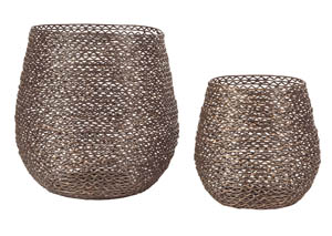 Desdemona Bronze Finish Candle Holder (Set of 2)