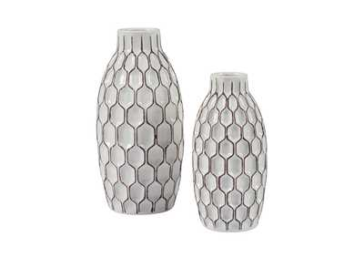 Dionna White Vase Set (Set of 2),Signature Design By Ashley
