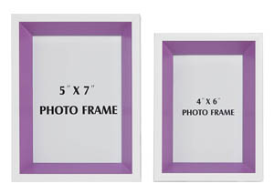 Obie White/Purple Photo Frame