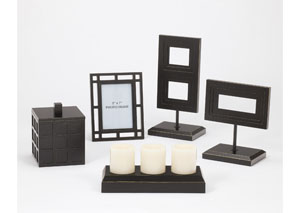 Black Deidra 5-Piece Accessory Set,Signature Design by Ashley