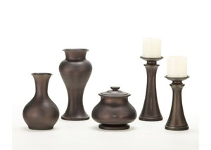 Brown Nidra 5-Piece Accessory Set