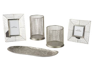 Dympna Silver Accessory Set