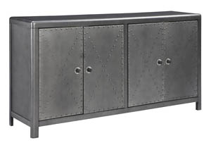 Rock Ridge Aged Steel Door Accent Cabinet