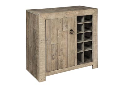 Forestmin Gray Wine Cabinet