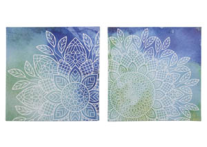 Andrian Blue/Green Wall Art Set (Set of 2)