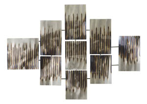 Oeneus Silver/Brown/Gold Finish Wall Decor