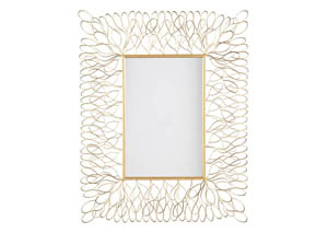 Ogdon Antique Gold Finish Accent Mirror