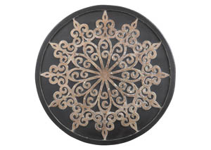 Oenomaus Black/Silver/Gold Finish Wall Decor