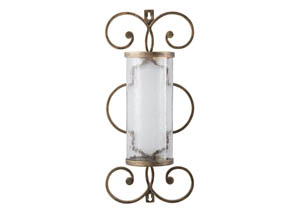 Oenone Antique Gold Finish Wall Sconce