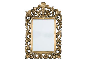 Denita Antique Gold Finish Accent Mirror