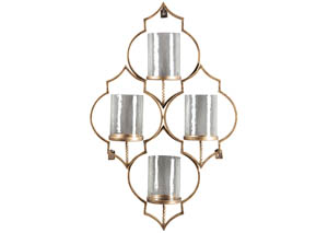 Dunixi Antique Gold Finish Wall Sconce