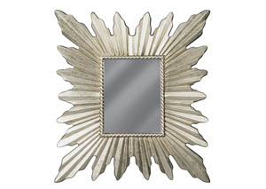 Antonia Antique Silver Finish Accent Mirror
