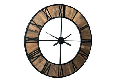 Byram Natural/Black Wall Clock,Signature Design By Ashley