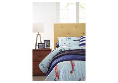 Nuvella Multi Full Upholstered Headboard,Signature Design By Ashley