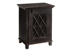 Charlowe Black Nightstand