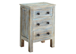 Charlowe Multi Three Drawer Nightstand