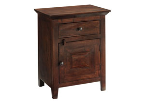 Charlowe Warm Brown Nightstand