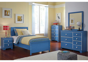 Bronilly Twin Panel Bed w/Dresser, Mirror & Chest