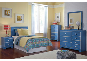 Bronilly Twin Panel Headboard w/Dresser & Mirror,Signature Design by Ashley