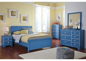 Bronilly Full Panel Bed, Dresser & Mirror