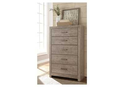 Culverbach Gray Five Drawer Chest,Signature Design By Ashley