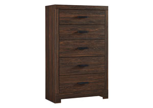 Arkaline Brown Five Drawer Chest
