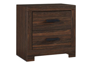 Arkaline Brown 2 Drawer Nightstand