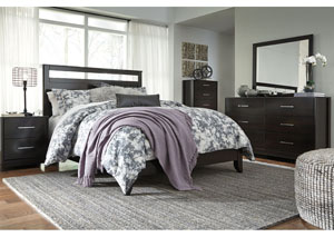 Agella Merlot King Panel Bed w/Dresser, Mirror and Nightstand